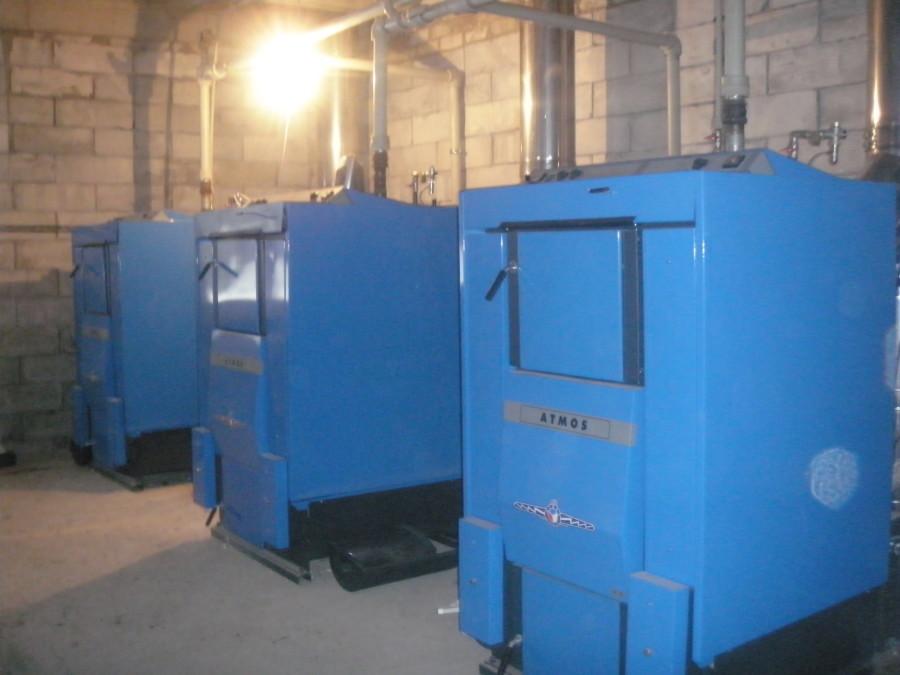 Три котла ATMOS по 100 кВт в связке